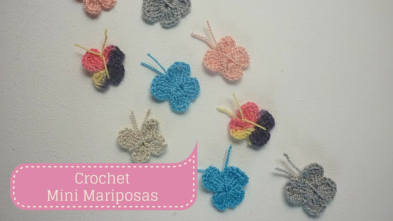 Manualidades mini mariposas tejidas a crochet paso a paso - Manualidades a crochet paso a paso ...