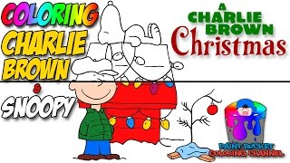 How to Color Charlie Brown and Snoopy - A Charlie Brown Christmas Coloring Page
