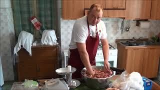 Домашнее копчение колбасы и куриных окорочков !