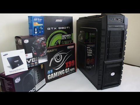 Intel i7 5930K GTX 980 Ti 4K Gaming Pc Build, Benchmark and Game Test