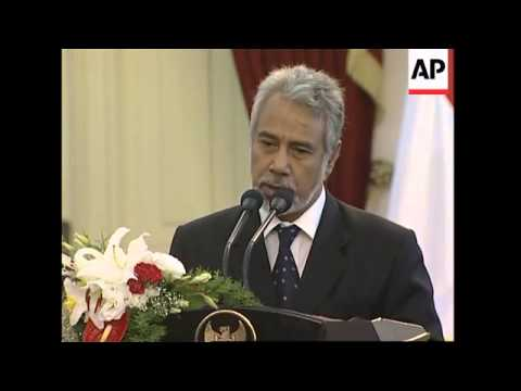 E Timor PM Gusmao signs trade agreement with Indonesian president