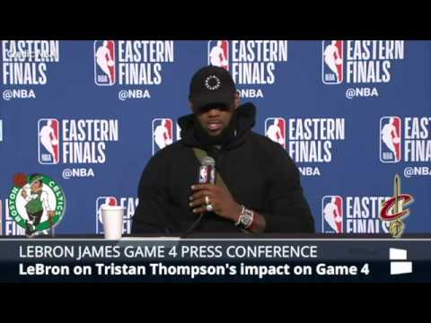 LeBron James Press Conference Following Game 4 Win Over Celtics in 2018 Eastern Conference Finals