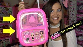 LOL surprise dolls CARRYING CASE Fake LOL surprise confetti pop series 3 wave 2 series 4