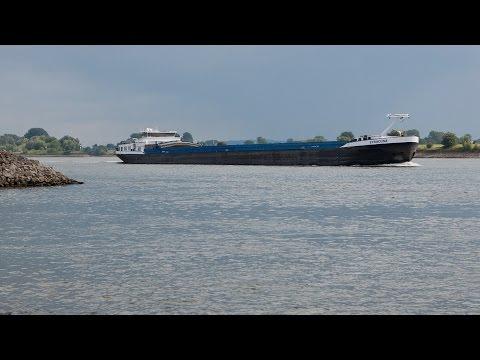 Scheepvaart op de Rijn / Shipspotting on the Rhine / Tolkamer / Bijland / Lobith / shipping / HD