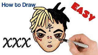 How to Draw XXXTENTACION Cute and Easy