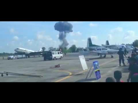 Saab JAS 39 Gripen crash in Thailand.