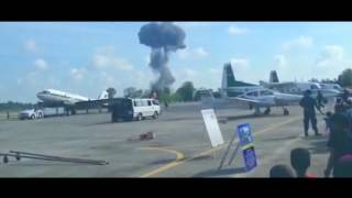Saab JAS 39 Gripen crash in Thailand.