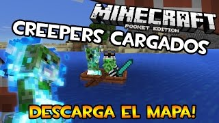 Minecraft PE (Pocket Edition) 0.12 | Creepers Cargados! | Descarga el Mapa (Español) (Tutorial)