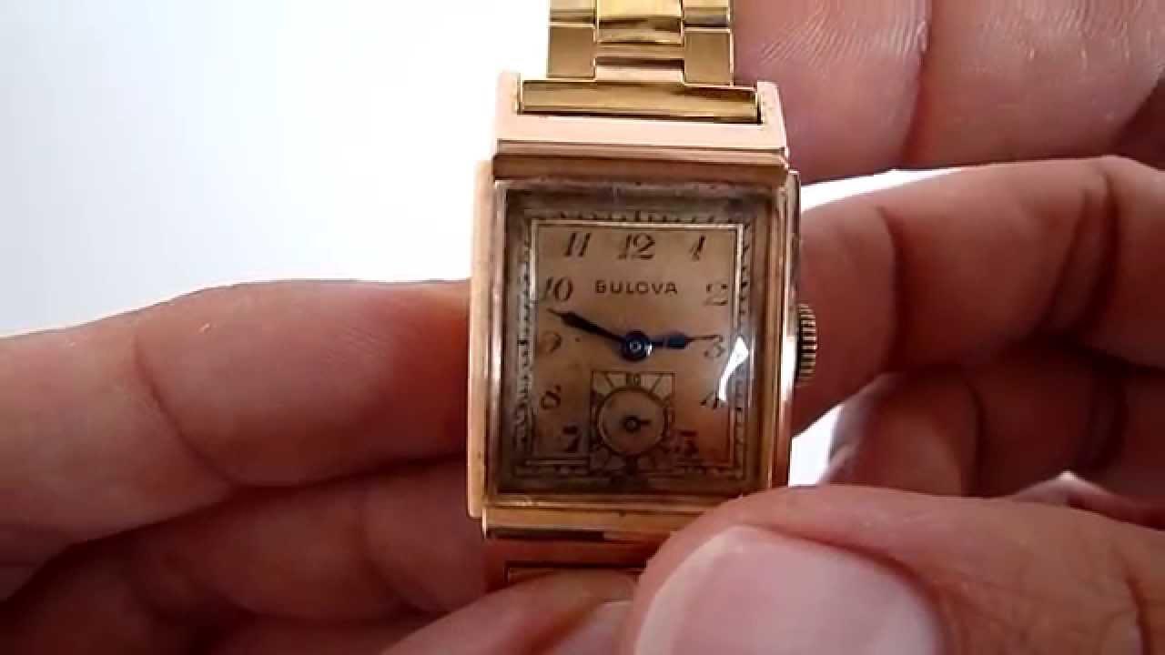 e2040e70d010 (A LA VENTA) Reloj Bulova Vintage Para Caballero Caja De Oro Rosa De 14k -  YouTube
