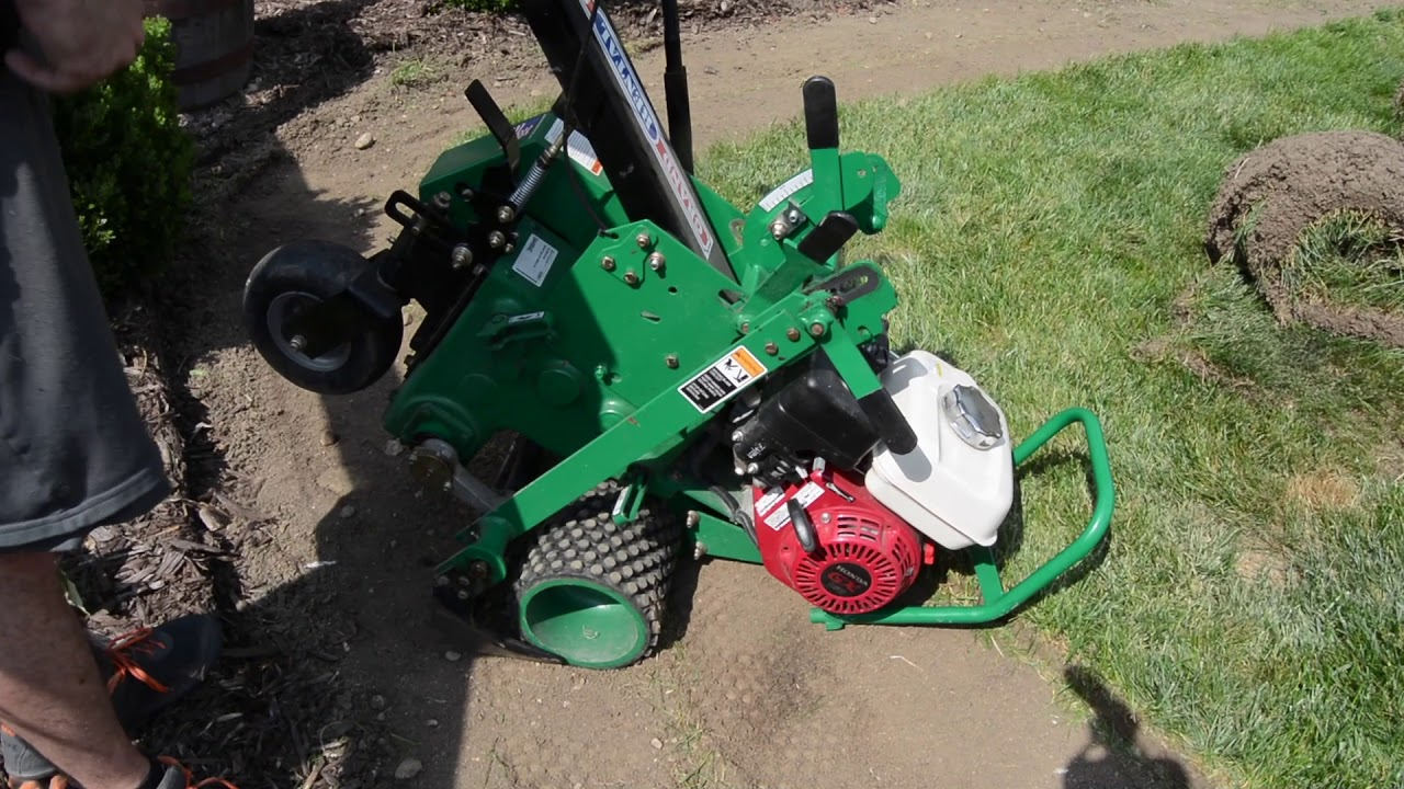 How To Use A Sod Cutter Youtube