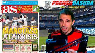 ASÍ REACCIONA LA #PRENSABASURA AL VIKTORIA PLZEN 0-5 REAL MADRID
