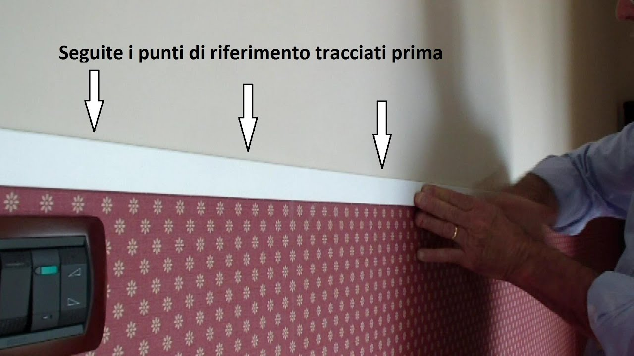 Come posare la carta da parati how to place the wallpaper for Carta da parati glitterata
