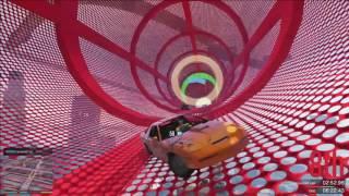 GTA 5 RACE ONLINE PlayStation 4 nya stunt RACE. FALLSKÄRM BIL