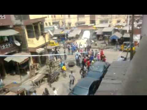 Lagos Island: Area Boys Clash with Nigeria Police Force ) Riot