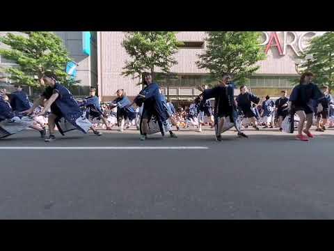 【VR180 VuzeXR】 新陽高校 TEAM茜~Dark Red~ 2019-06-08 『YOSAKOIソーラン祭り2019』三越前