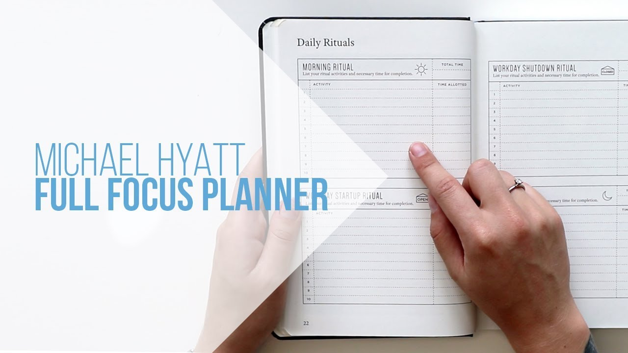 picture regarding Full Focus Planner Pdf known as Entire Notice PLANNER: Unboxing/Switch-For the duration of