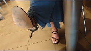 Candid Undertable Cross-legged In Sandals | Punjabi Goddess