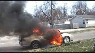 Buick Lucerne Explodes!!!!  Kills my Tulips!