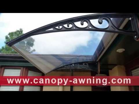 DIY PC polycarbonate canopy awning for door window