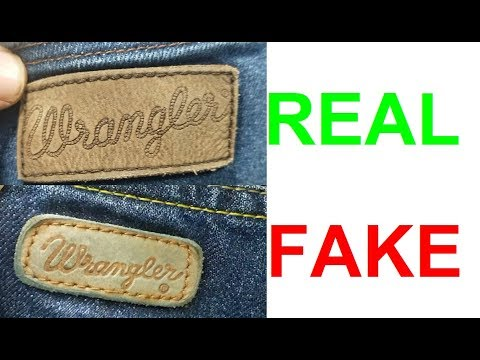 Real vs fake Wrangler jeans. How to spot fake Wrangler