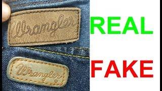 Real vs fake Wrangler jeans. How to spot fake Wrangler