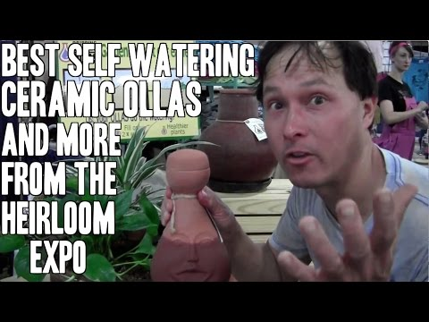 Best Self Watering Ceramic Ollas & More at the Heirloom Seed Expo