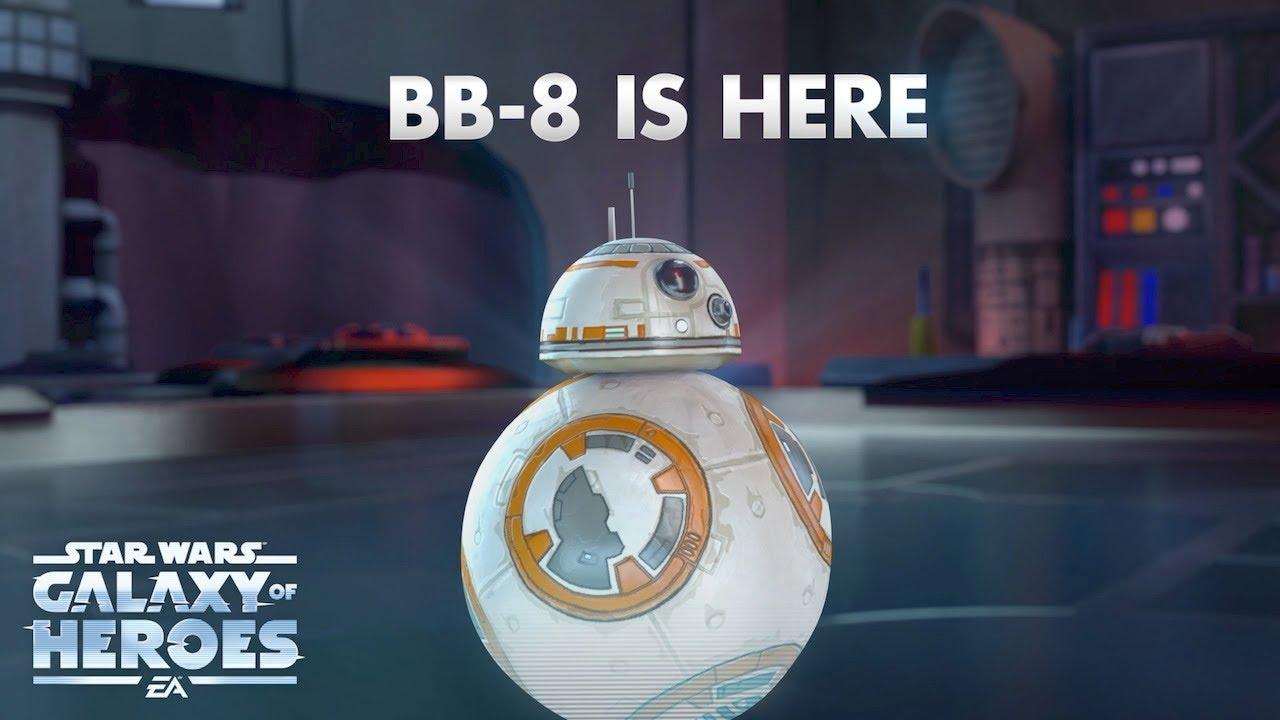 star wars galaxy of heroes  bb8 trailer  youtube