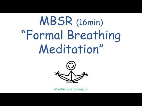 MBSR Formal Breathing Meditation 15 min
