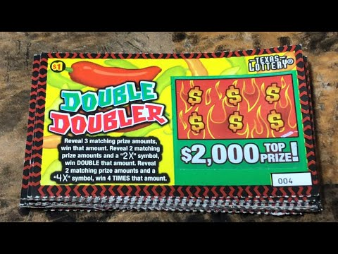 "New Ticket !! $1 Double Doubler!! ""Texas Lottery Scratchoffs """