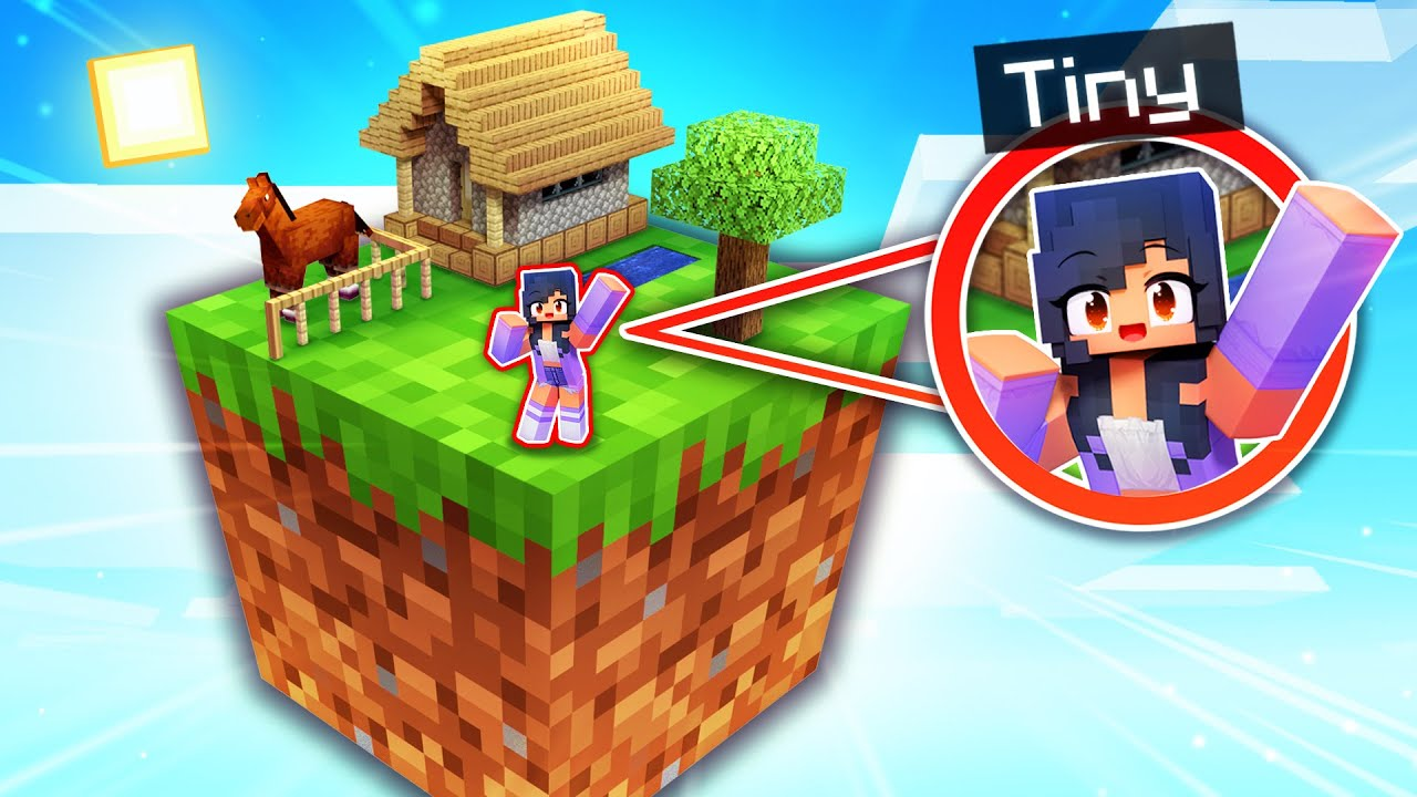 Download I'm TINY And Living On ONE BLOCK In Minecraft!