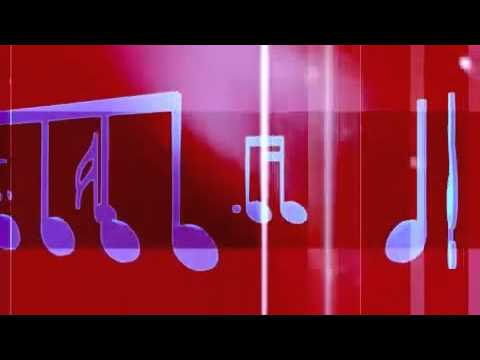 Music Notes and Symbols Carousel Red Motion Background