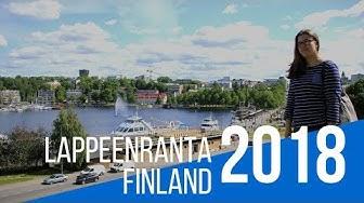 TRAVEL VLOG: FINLAND LAPPEENRANTA SUMMER 2018 - CITY CENTER; HARBOUR & FORTRESS