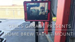 Home brew iPad mount for video…