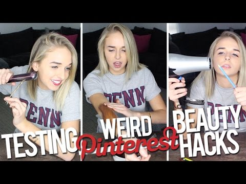 TESTING WEIRD BEAUTY HACKS
