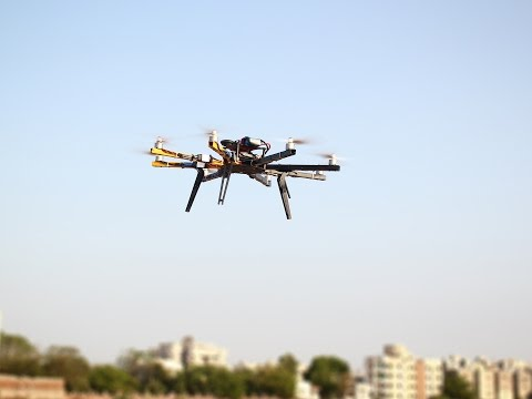 Octocopter Speed Flying