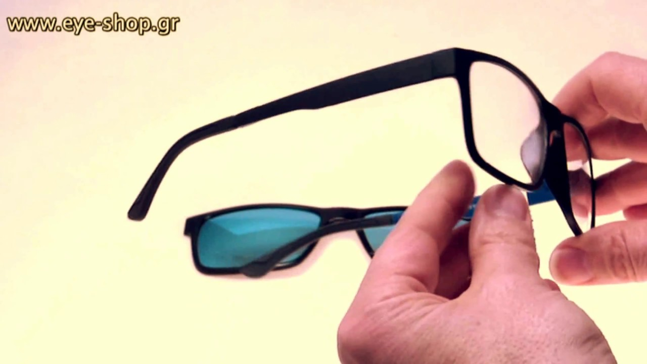 94c54ad041 Elastic Eyewear frame with sunglasses clipon polarized