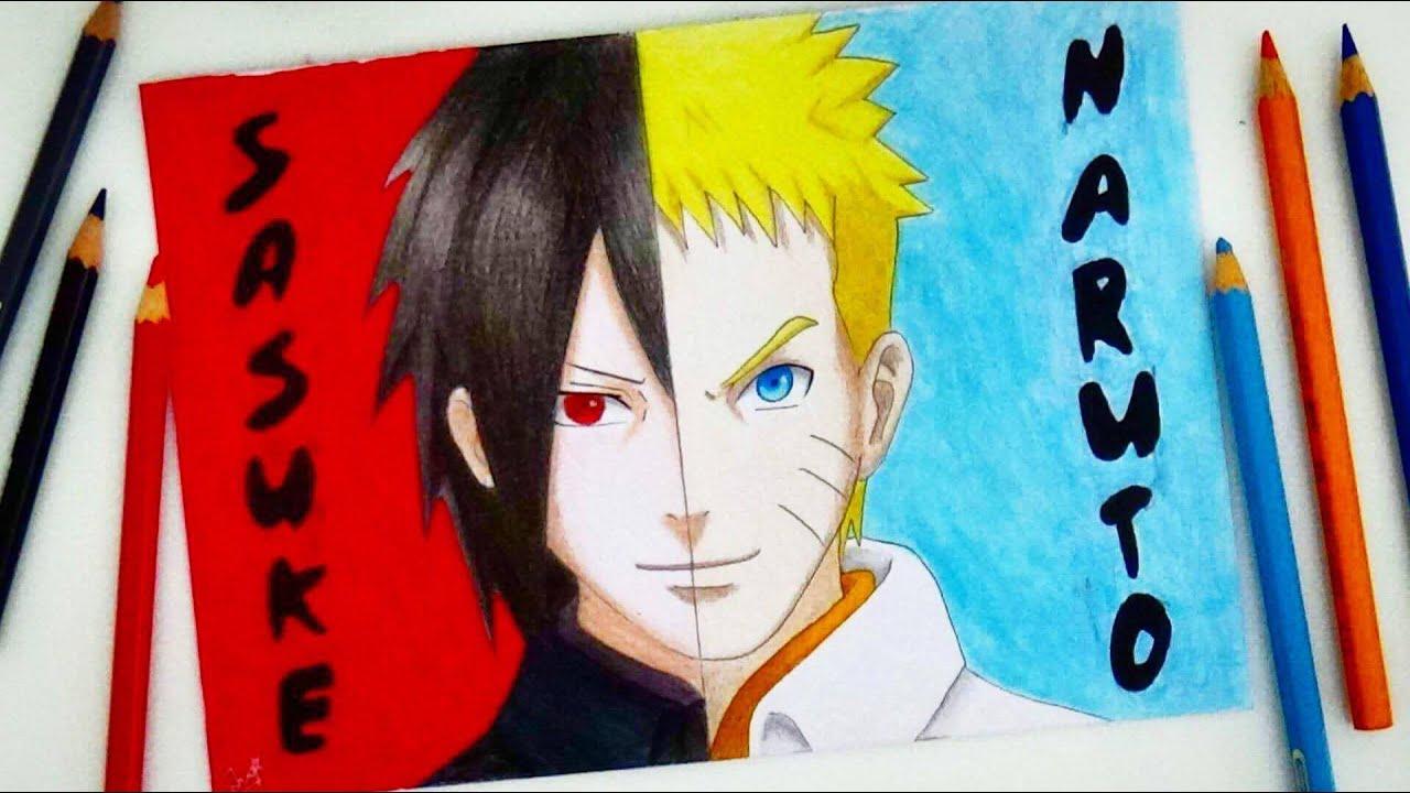 Speed drawing naruto and sasuke drawing naruto uzumaki sasuke uchiha naruto hd