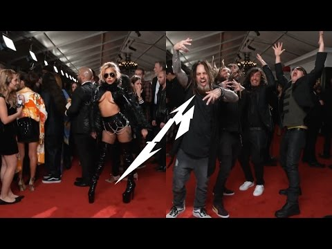 Lady Gaga and Korn stuns to Metallica on the red carpet at the Grammys 2017