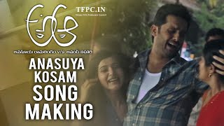 A Aa Movie Anasuya Kosam Song Making  Nithiin  Samantha  Tfpc