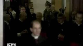 alfred xuereb, the pope's secretary with konrad krajewski and guido marini in croatia - 4.6.2011