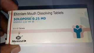 Solopose 0.25mg Tablet MD Review