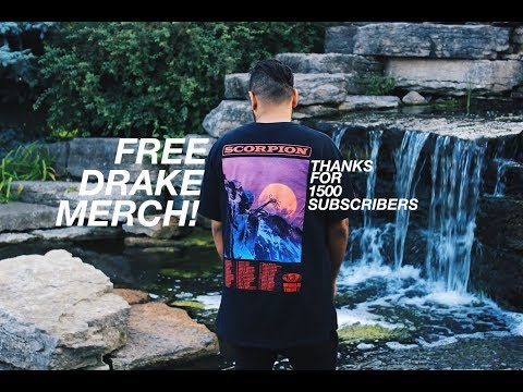 FREE DRAKE SCORPION TOUR MERCH GIVEAWAY... THANKS FOR 1500 SUBSCRIBERS!!
