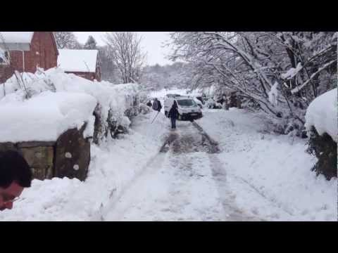Winter Attack in Flintshire North Wales