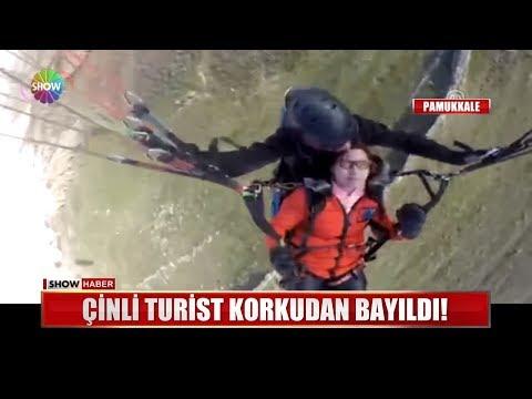 Çinli Turist Korkudan Bayıldı!