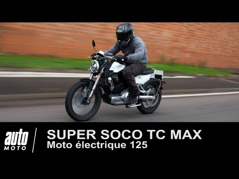 Moto électrique 125 SUPER SOCO TC MAX essai POV exclusif AUTO-MOTO.COM