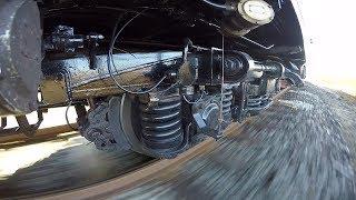 GoPro Тележка пассажирского вагона КВЗ ЦНИИ 5  Passenger Car Bogie 5