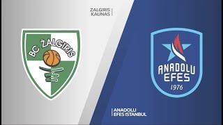 #EuroLeague 14. Hafta: Zalgiris .- Anadolu Efes