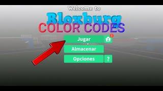 Bloxburg: Temas De Colores Con Códigos De Colores xD.