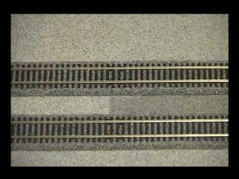 Train Track Gravel Mat Adding Between Ballasted Track Foam Youtube