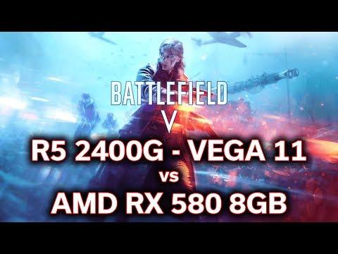 Battlefield 5 - Ryzen 5 2400G - VEGA 11 vs RX 580 8GB - Will it Play? thumbnail